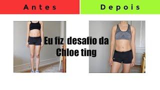 Como eu pedir a gordura da barriga em 2 semanas! O Desafio da maior YouTuber do mundo Chloe Ting.