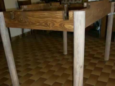 Come costruire un tavolo da pranzo allungabile fai da te mania - Costruire tavolo in legno ...