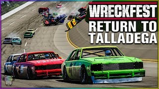 RETURN TO TALLADEGA! | Wreckfest | NASCAR Legends Mod