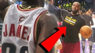YELLING AT LEBRON JAMES BEHIND THE LAKERS BENCH!Cavaliers Vs Lakers  $1,000 ALL GOLD SHOES!