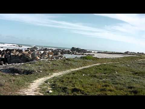 Beach at Cape Agulhas, the southernmost place on African Continent, South Africa