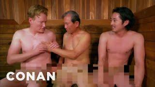 Steven Yeun & Conan Visit A Korean Spa    CONAN On TBS