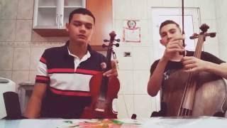 Hino 76 no violino e no cello part. Richard