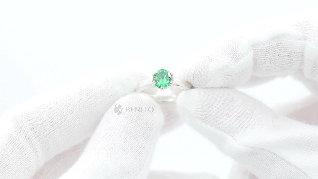 Marta Ring Green Zircon Stone