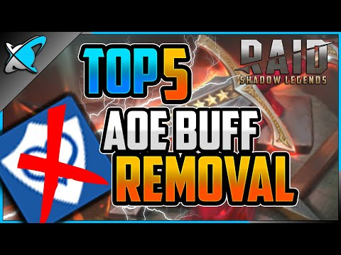 TOP 5 *AOE Buff Removal* Champions | The Best Action in the GAME !? | RAID: Shadow Legends