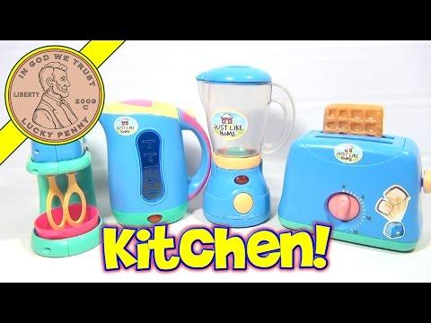 Just Like Home Kitchen Appliance Set - Toaster, Blender, Mixer & Coffee Pot