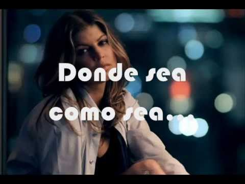 Whenerver En Espanol de The Black Eyed Peas Letra y Video