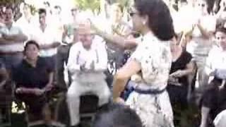 Filmacion de Manolete: figurantes bailan