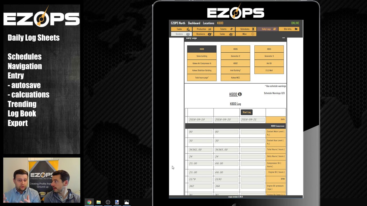 Customized log management: How to log a compressor with EZ Ops Video