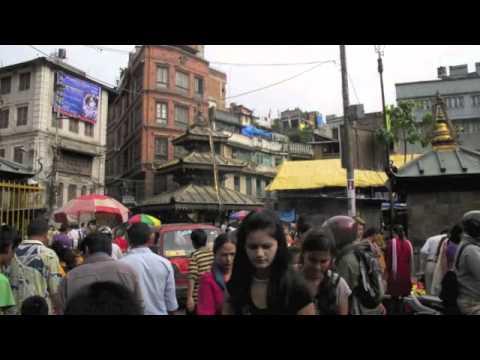 Cycling through Kathmandu