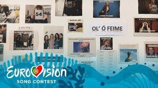 Visita guiada pela sede da equipa da Eurovisão 2018  - Parte 1