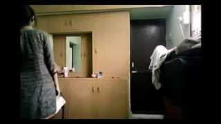 DESI GIRL drees open in the room width=