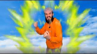 PewDiePie goes Super Saiyan 3 (green screen comp)