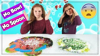 NO BOWL NO SPOON CHRISTMAS SLIME SWITCH UP CHALLENGE ! français