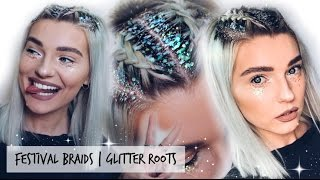 Festival Hairstyle & Glitter Roots | LoveFings