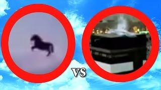Mekke'de havada uçan at vs Kabe'de görünen melek