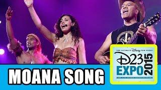 Moana D23 Expo Panel & Song Highlights - Dwayne Johnson & Te Vaka