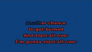 Start All Over Karaoke Version On-Screen Lyrics