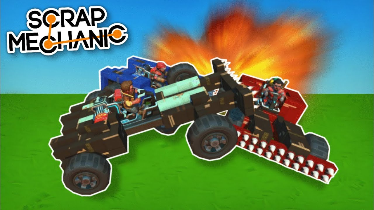 Moonbo - 5-Player Free for All Demolition Derby! - Scrap Mechanic Multiplayer Monday