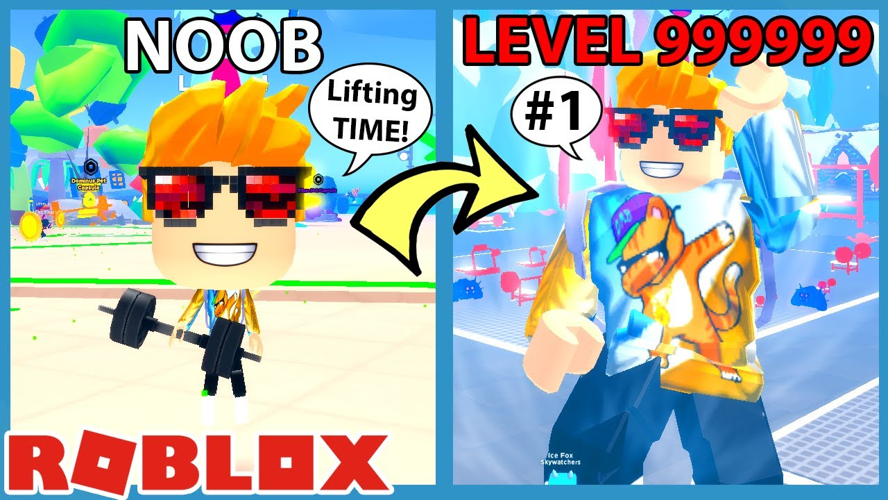 GravyCatMan - I Went to a NEW GYM And Unlocked MAX LEVEL STRENGTH | Roblox Lifting Heroes