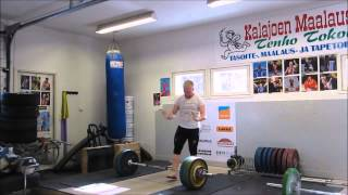 Milko Tokola weightlifting training fliplops! 16.4.2014
