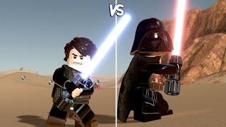 LEGO Star Wars The Force Awakens - Anakin Skywalker vs Darth Vader - CoOp Fight | Free Roam Gameplay