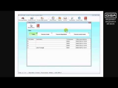 SOFTCARD - Visualizzare l'archivio delle tessere