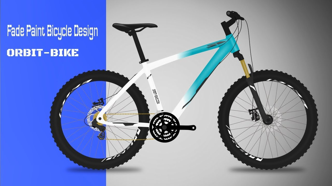 Blue Fade Paint Bicycle Design