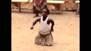 Funny African man dancing