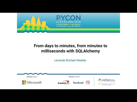 From days to minutes, from minutes to milliseconds with SQLAlchemy