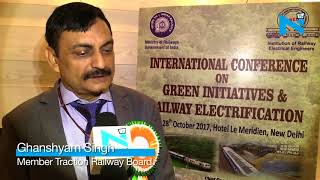 'Railways is working on electrification of track' width=