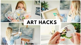 5 Art Life Hacks in 60 SECONDS | Art Life & Painting