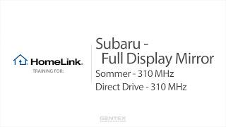 Subaru Ascent Full Display Mirror HomeLink Training - Sommer and Direct Drive video poster