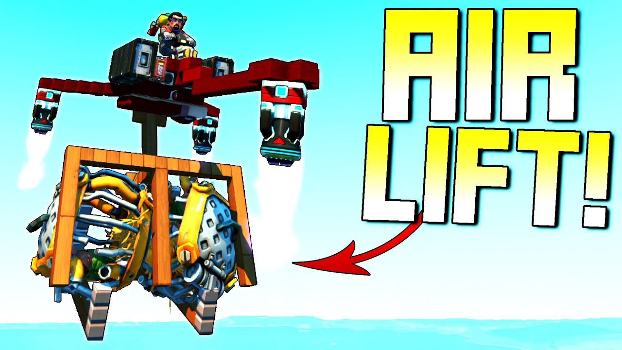 ScrapMan - Airlifting Caged Farmers for Rare Clothing Reward! - Scrap Mechanic Survival Mode [SMS 85]