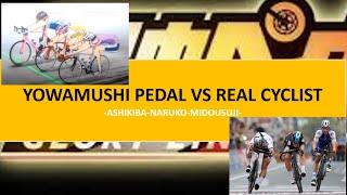 Yowamushi pedal vs Real Cyclist [naruko,ashikiba,midousuji]