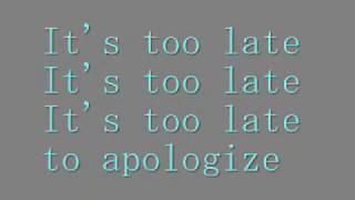 Denace - Too late (Lyrics)