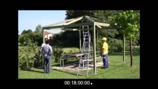 Costruire un Gazebo in legno in 18 minuti!