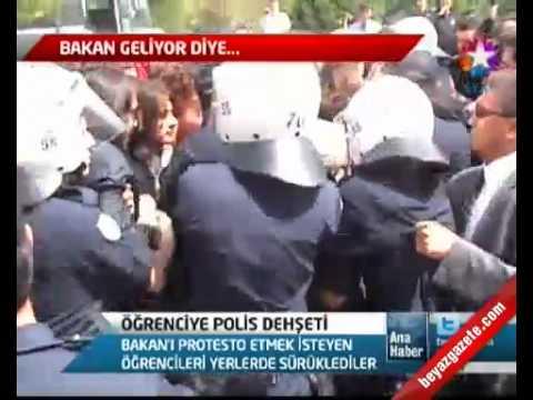 Samsun'da Polis Kız öğrencileri saçlarından sürükledi, Yumruk, Dayak. AKP İleri Demokrasi!