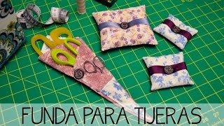 Funda para tijeras- Tutorial costura