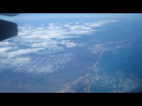 Flying over coast of Madagascar