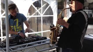 DJ met SAX - Beachclub - Pepperoni on Sax & DJ Benjamin Scott