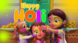 Holi Bengali Song   Bengali Rhymes For Children   Infobells