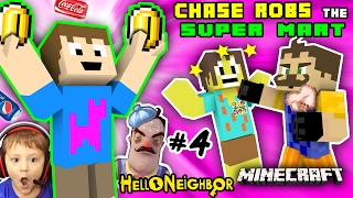 HELLO NEIGHBOR MINECRAFT ROBBERY GROCERY STORE! Kid Steals Money & Food (FGTEEV Vending Machines Mod