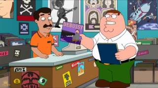 Family Guy - Peter finishes on the Bach not on the Debussy