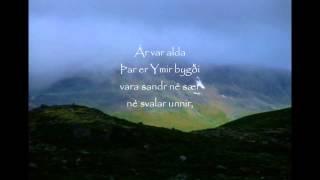 Voluspa 1-4 Poetic Edda Recital in Old Norse with Throat Singing