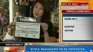 NTG: MTRCB, nagsagawa rin ng inspeksyon sa mga bus sa Araneta Center Bus Terminal