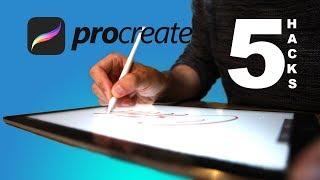 5 iPad Lettering Hacks in under 60 SECONDS - in ProCreate 4.0