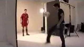 Ronaldo e o gajo de preto