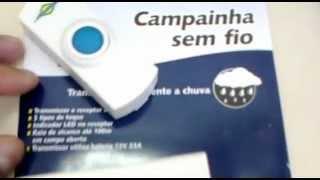 Campainha Sem Fio  CAMPAINHA WIRELESS ATÉ 100 METROS