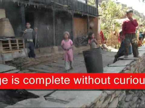 Nepal Village activities video clip